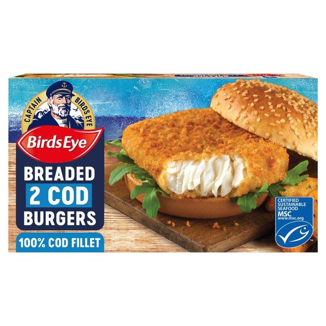 Birds Eye 2 Cod Fish Fillet Burgers