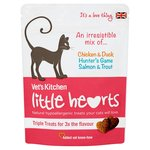 Vet's Kitchen Chicken Salmon & Game Little Heart Cats Treats