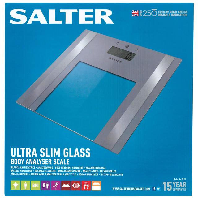 Salter Ultra Slim Glass Analyser Scale