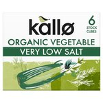 Kallo Very Low Salt Organic Vegetable 6 Stock Cubes 6's