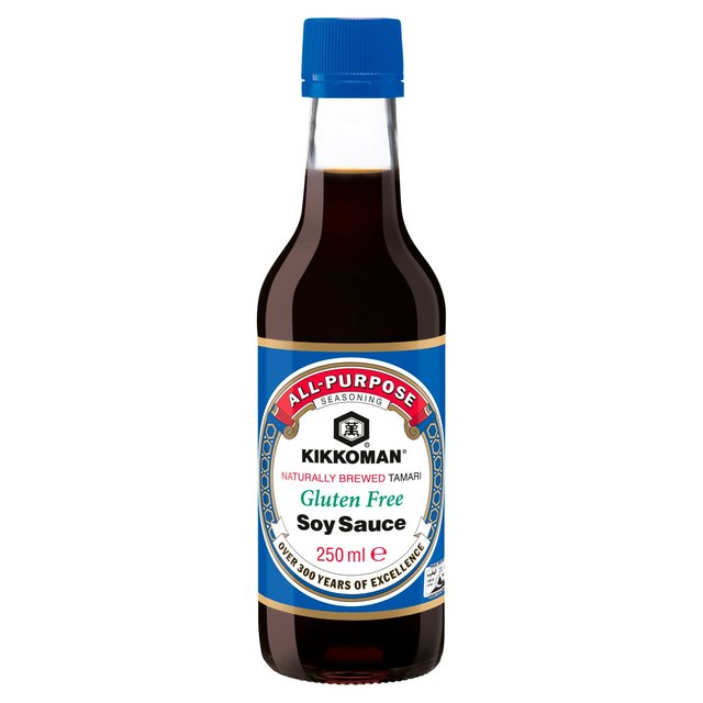 Morrisons kikkoman tamari gluten free soy sauce 250ml for Fish sauce gluten free