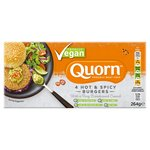 Quorn Vegan Hot & Spicy Burgers 4 Pack