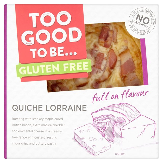Morrisons too good to be gluten free quiche lorraine 130gproduct too good to be gluten free quiche lorraine forumfinder Image collections