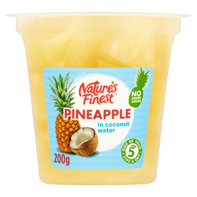 Morrisons: Natures Finest Pineapple in Coconut Water 108g ...