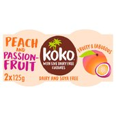 Koko Dairy Free Peach & Passionfruit Yogurt Alternative