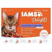 Iams Delights Adult Land & Sea Gravy