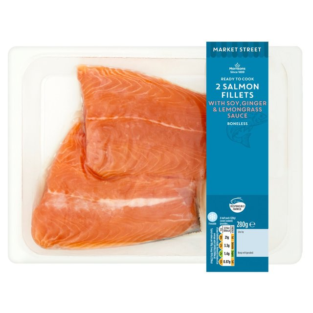 Morrisons Salmon With Soy, Ginger & Lemongrass Sauce