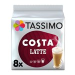 Tassimo Costa Latte Coffee Pods 8s