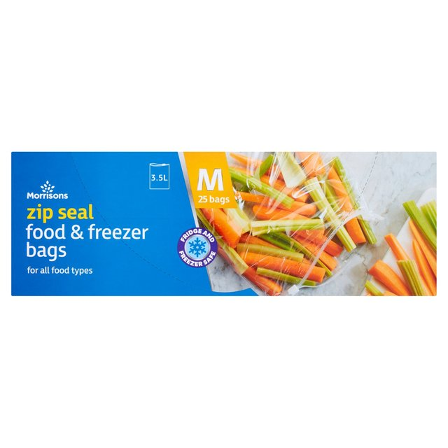 Morrisons Medium Zip Food/Freezer Bags