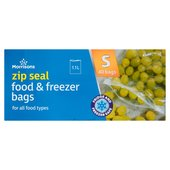 Morrisons Small Zip Food/Freezer Bags