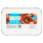 Morrisons Medium Trays & Lids