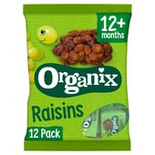 Organix Mini Organic Raisin Fruit Snack Boxes Multipack