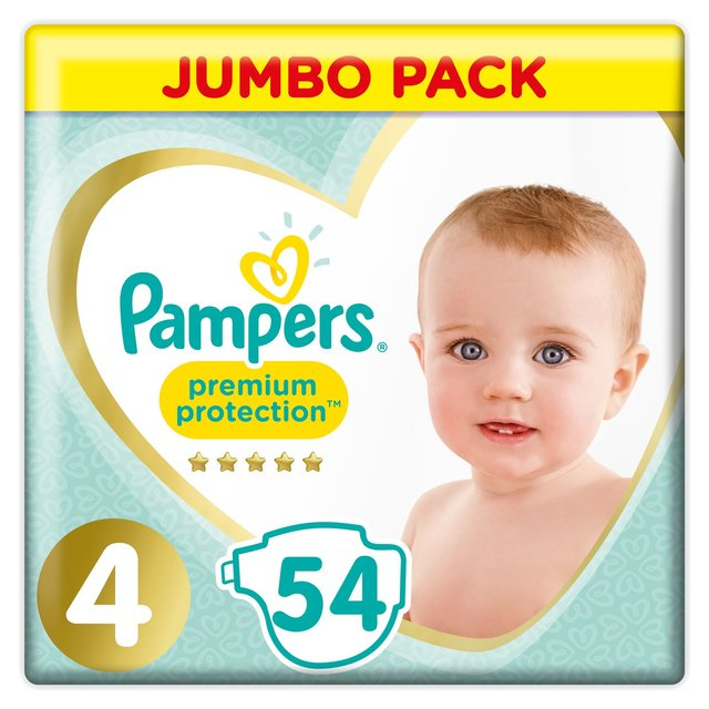 Pampers Premium Protection New Baby Nappies Size 4 Jumbo Pack