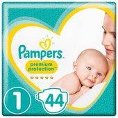 Pampers New Baby Nappies Size 1 Essential Pack