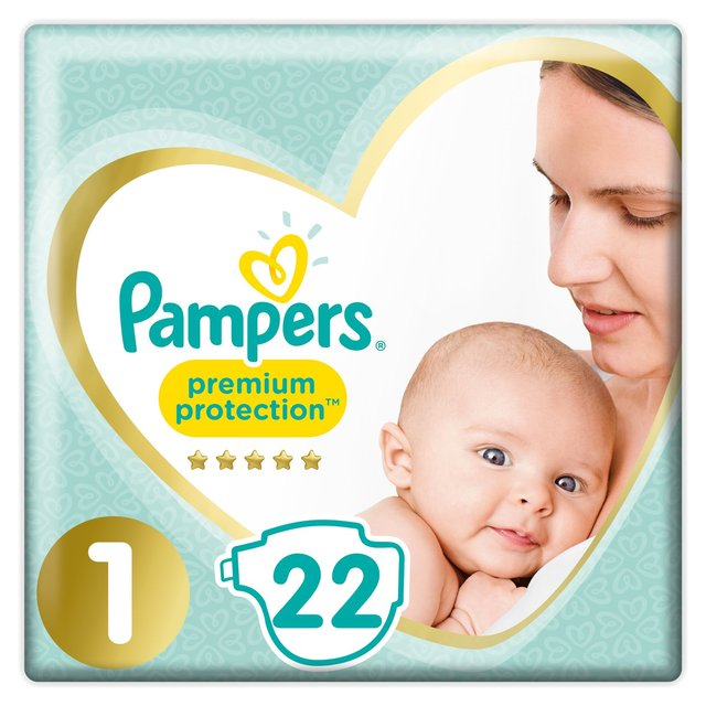 Pampers Premium Protection Size 1 Nappies, 2-5kg