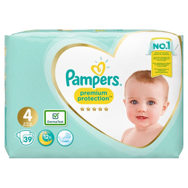 Pampers Premium Protection New Baby Nappies Size 4 Essential Pk