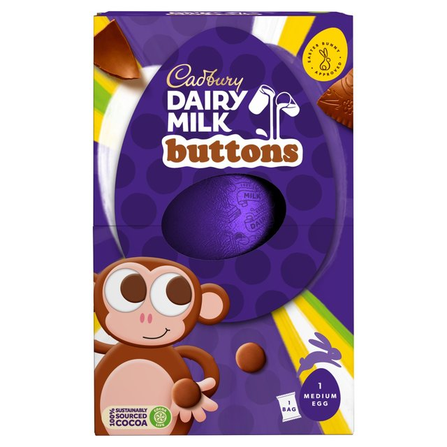 Morrisons cadbury dairy milk buttons chocolate easter egg 128g cadbury dairy milk buttons chocolate easter egg negle Image collections