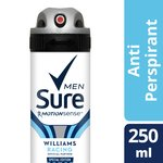 Sure Men Williams Racing Aerosol Anti-Perspirant Deodorant