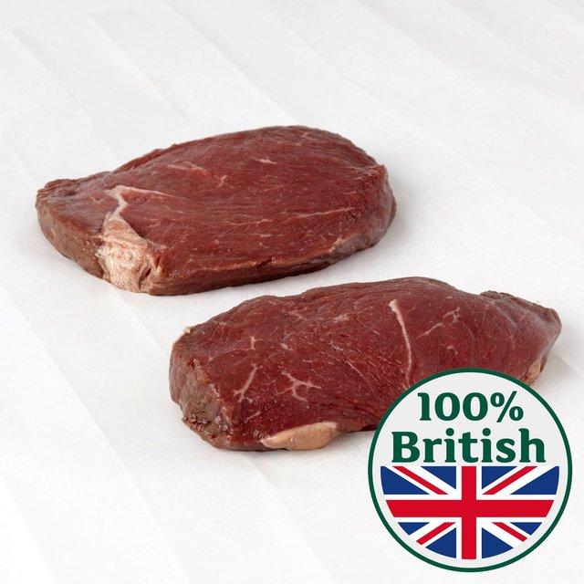 Morrisons: British Rump Steak Large Typically: 0 561kg