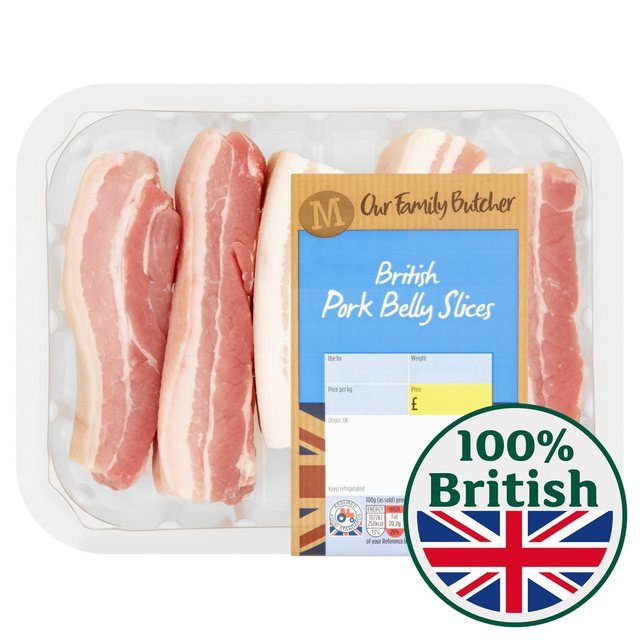 Morrisons British Pork Belly Slices Small