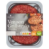 Highland Game Venison Grill Steaks 2 Pack