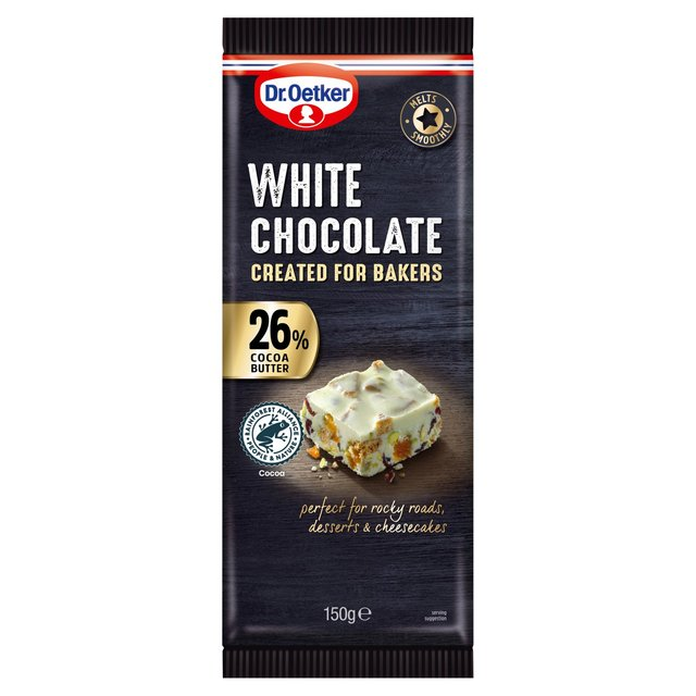 Dr. Oetker 26% White Chocolate Bar