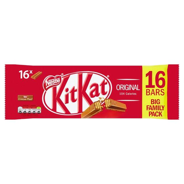 morrisons kitkat 2 finger milk chocolate bar pack of 16 331 2g
