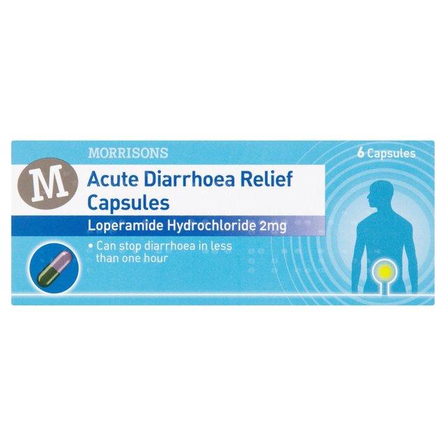 Morrisons Morrisons Acute Diarrhoea Relief Caps 6 Per Packproduct
