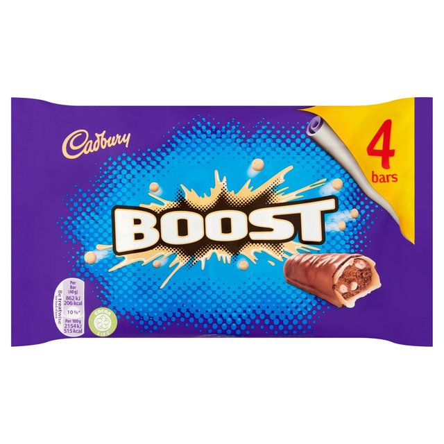 Morrisons Cadbury Boost Chocolate Bar 4 Pack 4 X 40g