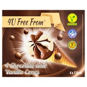 4U Free From Cones Chocolate + Vanilla