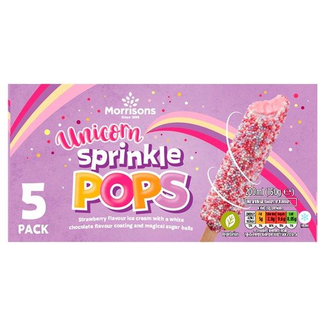 NEW Morrisons Sparkly Pops Unicorn Lollies £1 @ Morrisons