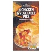 Morrisons: Morrisons 4 Chicken & Vegetable Pies 600g ...