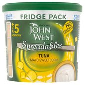 John West Spreadables Tuna Mayo Sweetcorn Fridge Pack
