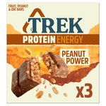 Trek Peanut Power Wholefood Energy Bars 3 Pack