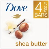 Dove Purely Pampering Shea Butter Soap 4 x 100 at Morrisons