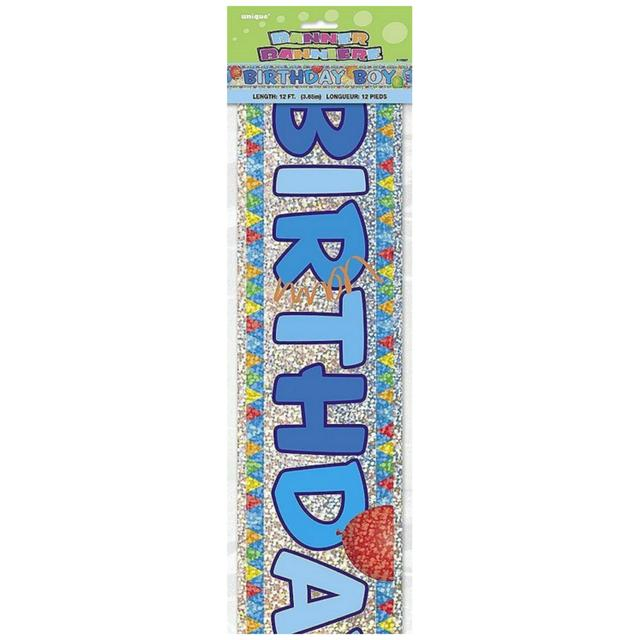 Birthday Banner, Blue, 12ft