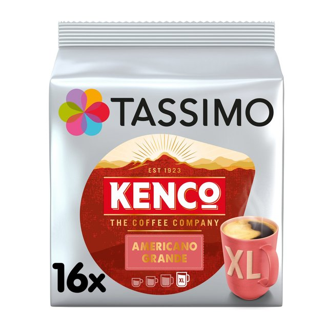 Morrisons: Tassimo Kenco Americano Grande Coffee Pods 16 per pack(Product Information)