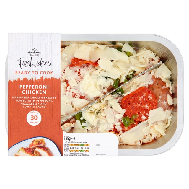 Morrisons Pepperoni Chicken 385gProduct Information