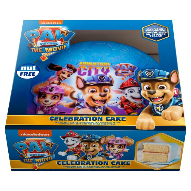 Morrisons Paw Patrol Celebration Cake Product Information