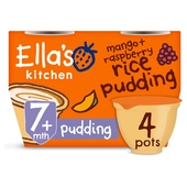 Ella's Kitchen Raspberry & Mango Rice Pudding