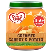 Cow & Gate Creamed Carrot & Potato Jar