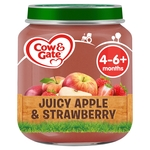 Cow & Gate Juicy Apple & Strawberry Fruit Puree Jar