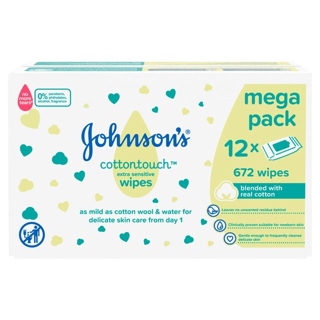 Johnsons Extra Sensitive Baby Wipes