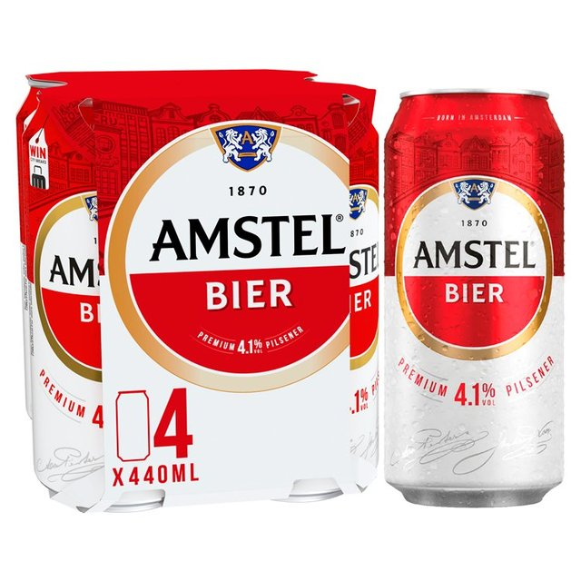 Amstel Lager Beer Cans