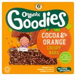 Organix Goodies Cocoa & Orange Crispy Bars 6s