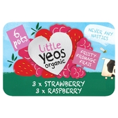 Little Yeos Organic Strawberry & Raspberry Fromage Frais