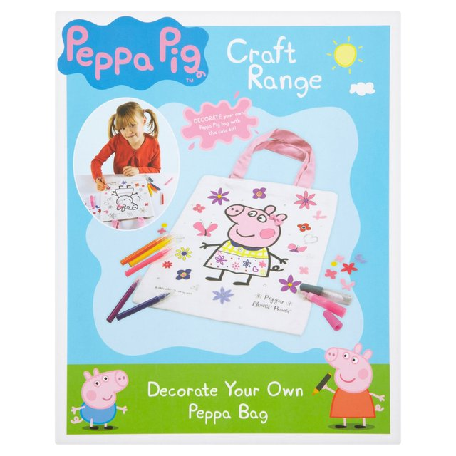 Morrisons: Peppa Pig Craft Range  Design Your Own Peppa ...