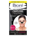 Biore Charcoal Pore Strips 6Pk