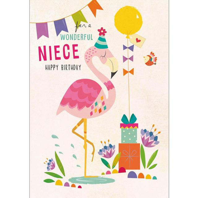 Morrisons: Niece Birthday Card, Flamingo (Product Information