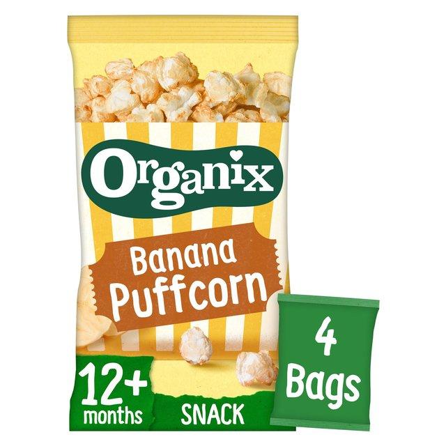 Organix Banana Puffcorn Organic Finger Food Toddler Snack Multipack